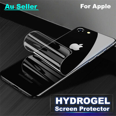 Back Rear Hydrogel Aqua Screen Protector Film For Apple iPhone X XS Max 7 8 Plus