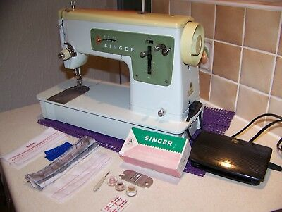 Solid Singer 427 Heavy Duty Z/zag Sewing Machine,replacement Gear,serviced