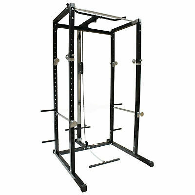 Heavy Duty Olympic Power Cage Rack with Multi Grip Pull Up Bar Gym