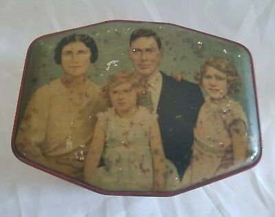 Vyg The Royal Family Tobacco Candy Tin King George Vi Queen Elizabeth