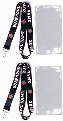 2019 Rose Bowl Buckeyes Vs. Washington Huskies Lanyard /ticket Holder Set Of Two