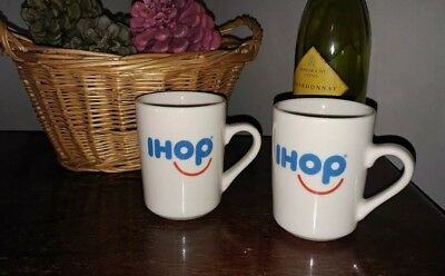 NEW Original Pair of IHOP Coffee mugs cups.   Great Gift for fans of the Diner