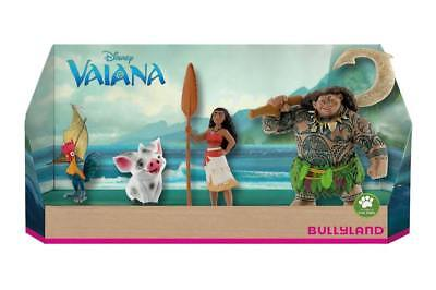 Official Disney Moana Vaiana 4 Figures set Pua Hei Hei Demi-God Maumi Toy Play