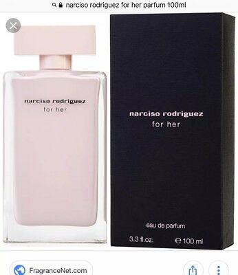 BRAND NEW 100ML NARCISO RODRIGUEZ FOR HER EDP.Brand New & Sealed.rrp £80!!