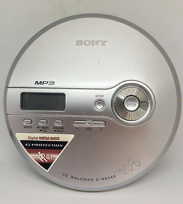 SONY CD WALKMAN (D-NE240)(SILVER) - Portable Mega Bass MP3 GProtection CD Player