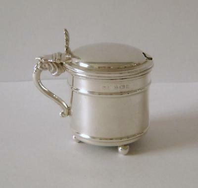 An Antique Sterling Silver Mustard Pot Birmingham 1908 William Devenport