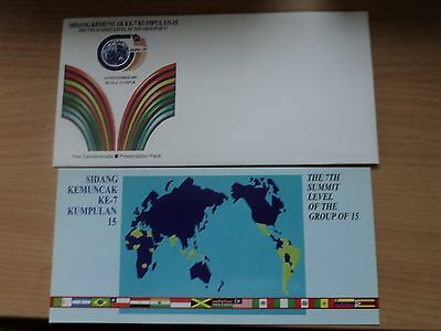 Malaysia 1997 3 Nov Presentation Pack 7th Summit Conference Group of 15, KL