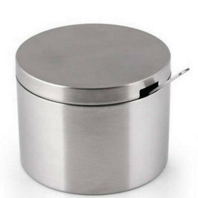 Stainless Steel Sugar Bowl with Lid for Sugar Spoon Home Kitchen