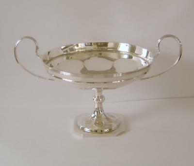 An Antique Sterling Silver Large Comport Or Fruit Bowl Sheffield 1911 522 Grams