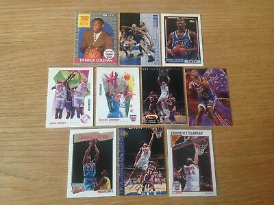 Derrick Coleman NBA Basketball Trading Cards Inc Rookie And Silver Signature