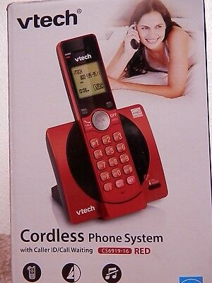Vtech Cordless Phone System With Caller Id/call Waiting #cs6919-16 Red