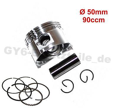 Piston Set& Rings  Ø50Mm 139Qmb 90Cc Gy6 Scooter Moped Atv Vip Roketa Peace Tng