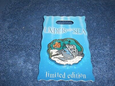 Disney DLR Under The Sea SWORD IN THE STONE ARTHUR & MERLIN AS FISH LE 3-D Pin