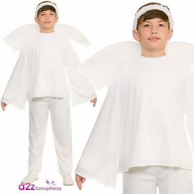 Christmas Angel Costume With Trousers Boys Girls Nativity Play Child Fancy Dress