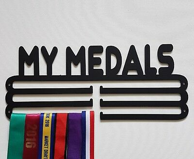 Medal Hanger/Holder/Display/Rack-MY MEDALS-STEEL- 3 Tier 320mm, STORE 36 MEDALS