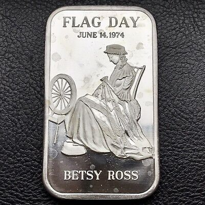 Flag Day Betsy Ross 1 oz .999 Silver Art Bar 10,004 Minted Madison Mint (0252)