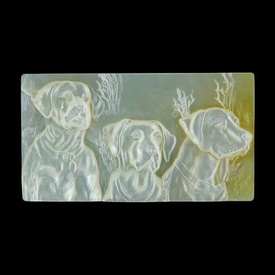 Carved Dogs - Three Graces MOP CAB EN500025
