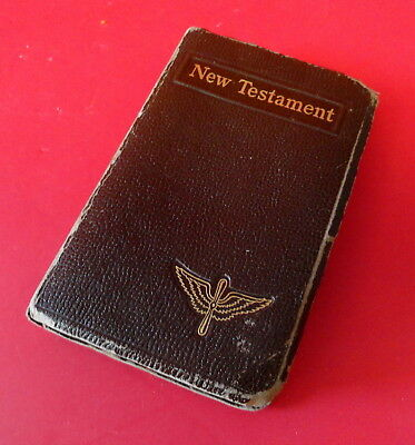 Army Air Corps New Testament W/ Wing & Prop Insignia