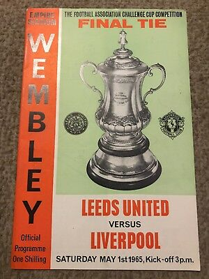 Leeds United V Liverpool Fa Cup Final 1St May 1965 Programme