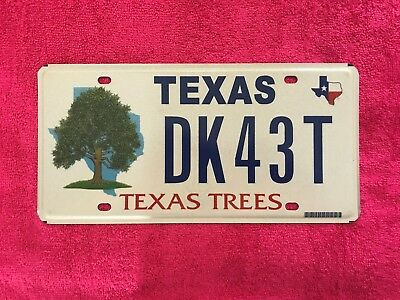 Texas Trees License Plate.