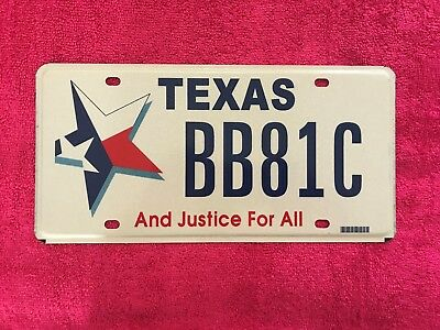 Texas ( And Justice For All ) License Plate.