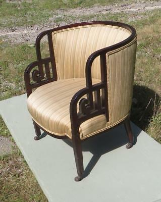 Chinese Shanghai Art Deco Chair/GREAT FORM/ORIGINAL FINISH/1930s