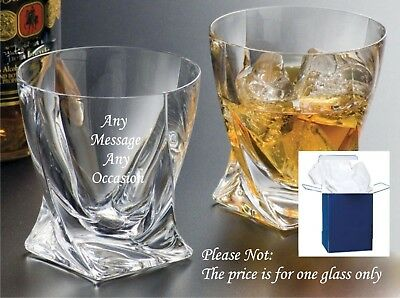 Personalised Engraved Whisky Glass, dad gift grandad gifts, Usher Birthday gifts