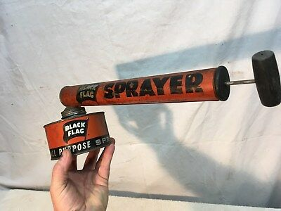 """BLACK FLAG"" VINTAGE 1960's ? ALL PURPOSE ONE PINT BUG SPRAYER"