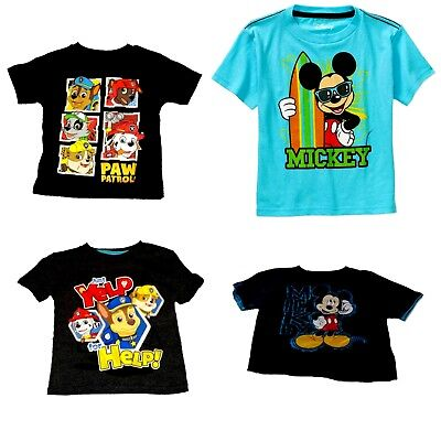 Mickey Mouse Nickelodeon Paw Patrol Chase Marshall Rubble Boys' T-Shirts  NWT