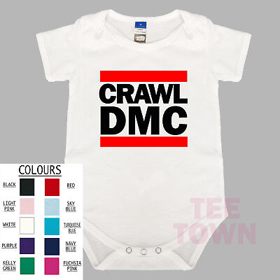 Crawl DMC Hip Hop Funny. Baby One Piece. Baby Romper. Cute Baby Suit. Clothing