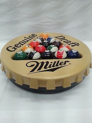 1996 Miller Genuine Draft Beer Sign / Pool Ball Rack