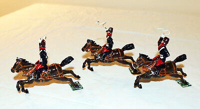Vintage KING CAST Toy Soldiers... RUSSIAN CALVARY Riders on Horses w/ WHIPS! Wow