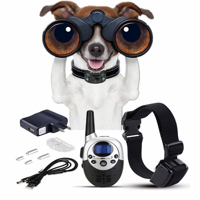 Dog Shock Collar w/ Remote Waterproof Electric For Large 50-180lbs Pet Training