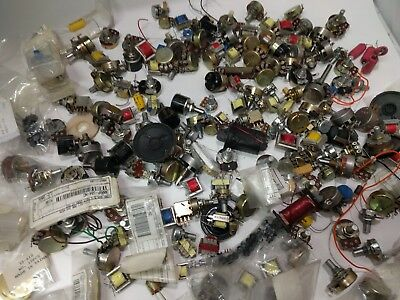 6 LB Lot Of Vintage Potentiometers capacitors transformers Used And New
