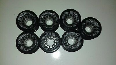 Speed warrior quad roller derby speed skate wheels x7, indoor use, 65mm & 95A
