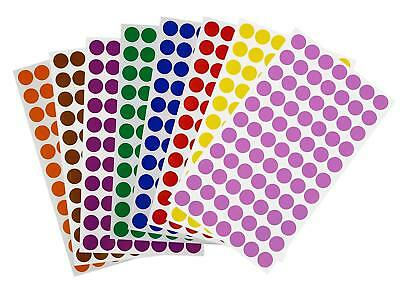 Round Color Coding Dot Stickers 15mm Labels 5/8 Inch Marking Circles 616 Pack