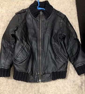 961c064ae0b0 BABY GAP BOY Faux Leather Varsity Jacket Nwt 2T 3T N9 Nnn -  34.99 ...
