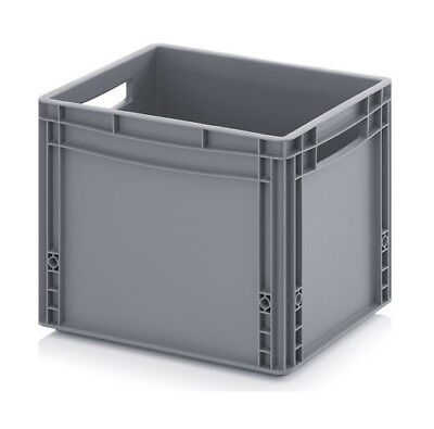Plastic Container 40x30x32 Crate Transport Box Grey 30l