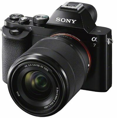 Sony A7 ILCE-7K Full Frame Compact System Camera + 28-70 mm Zoom Lens 24.3 MP