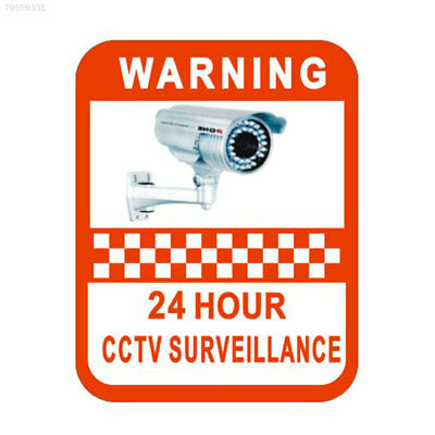 D6CC CCTV Monitoring Warning Mark Sticker Vinyl Decal Video Camera Security