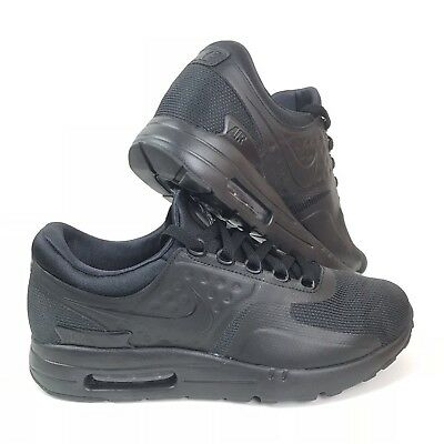 19605a3fe0d1 NIB Mens Nike Air Max Zero Essential Shoes Sneakers 876070-006 Triple Black