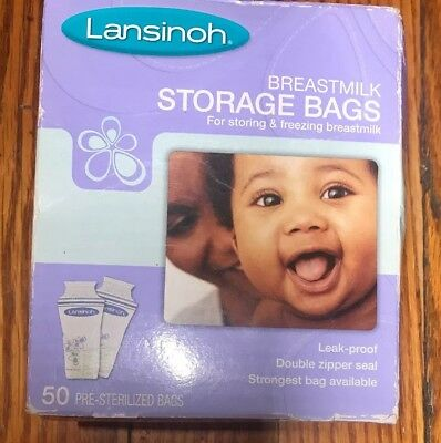 Lansinoh Breastmilk Storage And Freezing Bags Double No-leak - 50 ct