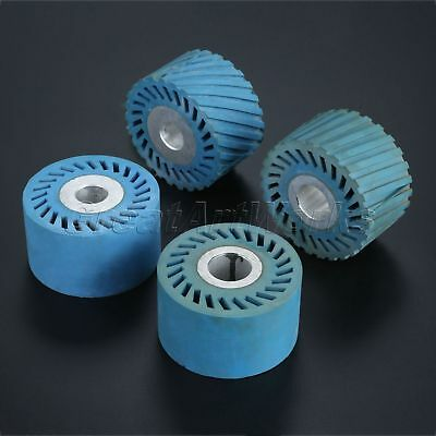 2 Types Rubber Wheel Abrasive Belt Grinder Serrated Grinding Cutting Polishing