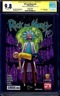 Rick and Morty #44 CRISIS SUPERCON VARIANT CGC SS 9.8 signed SKETCH Kirkpatrick