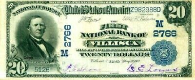 Reproduction $20 National Bank Note 1929,1st National Bank In Oshkosh Wisconsin