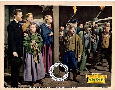 Henry FONDA, John FORD, Lobby Card YOUNG MR. LINCOLN (1939) Vintage & Original