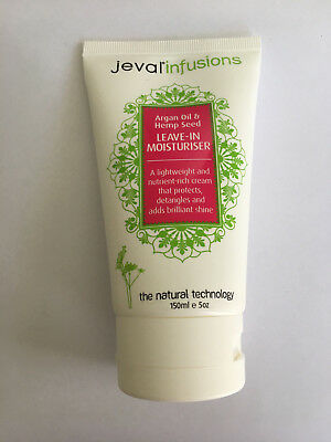 Jeval Infusions Argan Oil & Hemp Seed Leave In Moisturiser 150ml - Paraben Free