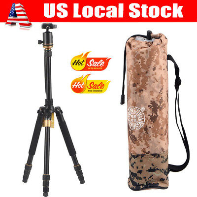 Q999S Professional Portable Aluminum Tripod Monopod + Ball Head for DSLR Camera