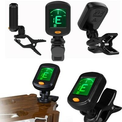 Chromatic Digital Clip-On Electric Tuner for Guitar Bass Ukulele Violin x 1