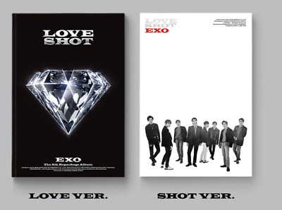 EXO-[Love Shot] 5th Repackage 2 Ver SET CD+Booklet+PhotoCard+Gift K-POP Sealed